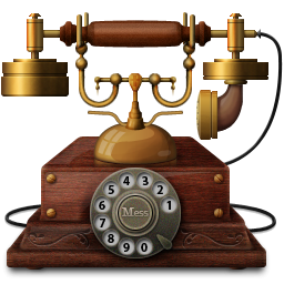 Old 3D Telephone-256x256